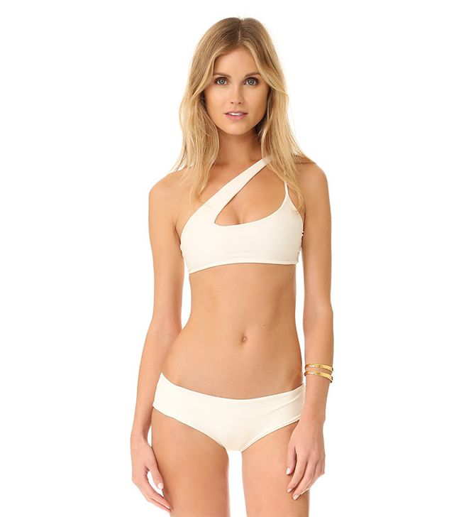Mikoh Queensland Cross Shoulder Bikini Top and Bondi Cheeky Bikini Bottoms