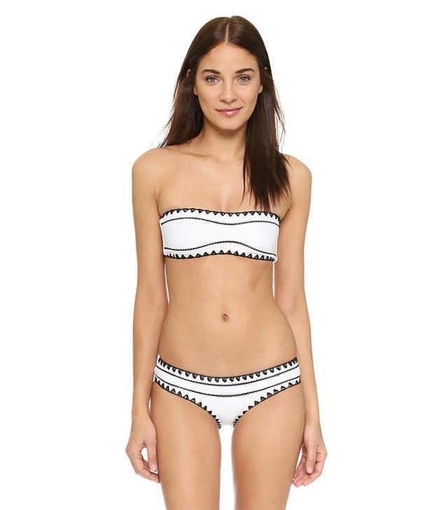Same Swim The Babe Bandeau Bikini Top and The Everything Bikini Bottoms