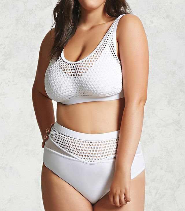 Forever 21 Plus Size Mesh Bikini Top and Bottoms