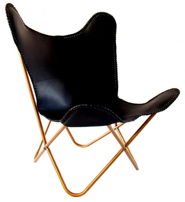 Interiors Online Butterfly Chair Black Leather