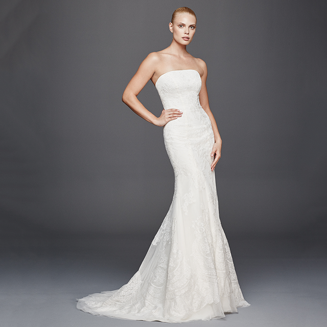 Truly Zac Posen Strapless Lace Wedding Dress