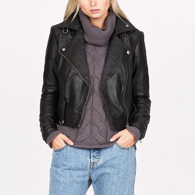 One Teaspoon Blues Cat Leather Jacket