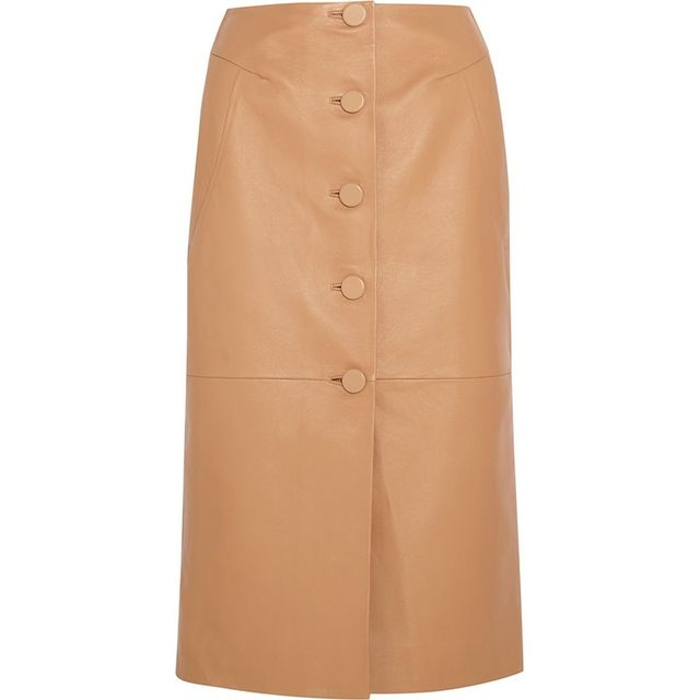 Topshop Unique Romilly Leather Skirt