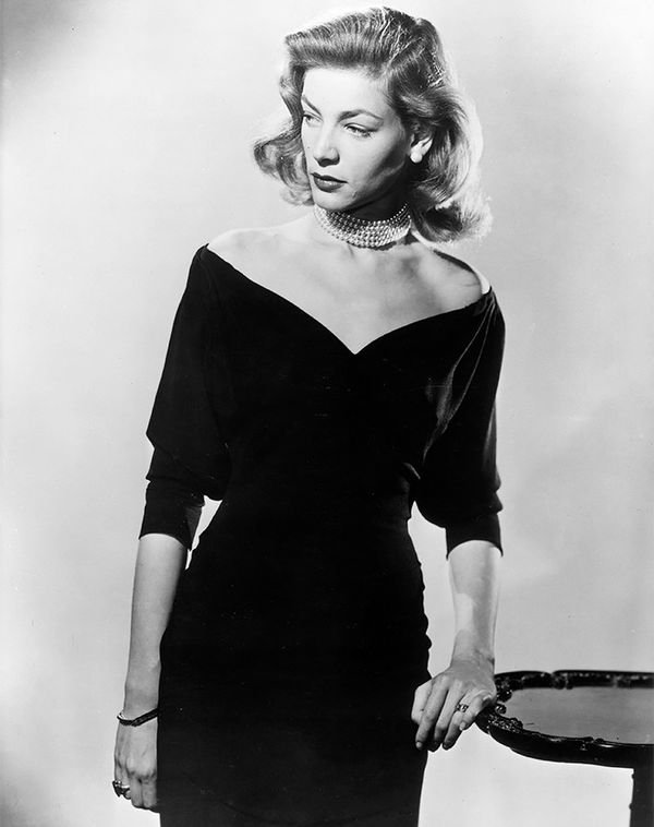 Pearl chokers continued to reign supreme in the '40s and '50s with starlets like Lauren Bacall.