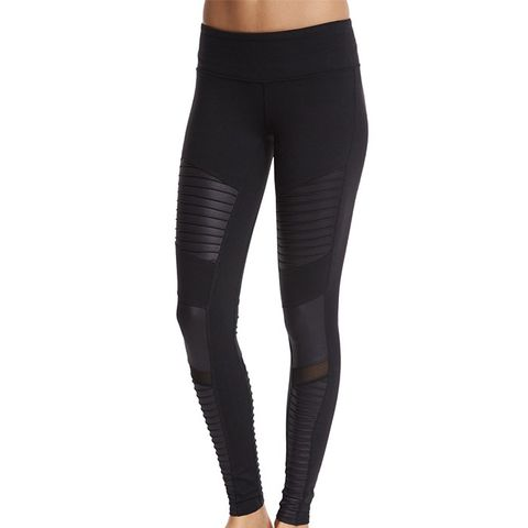 Yoga Moto Full-Length Sport Leggings