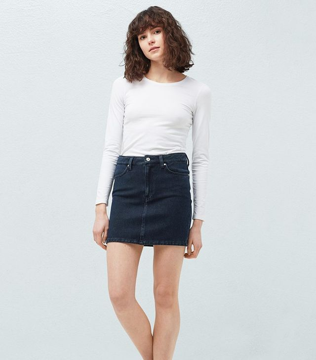 Mango Dark Denim Skirt