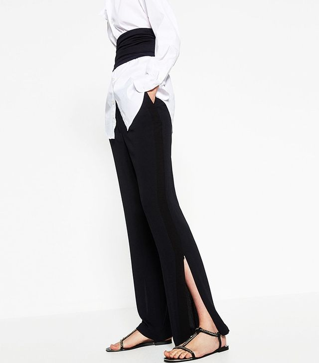 Zara Trousers With Side Slit