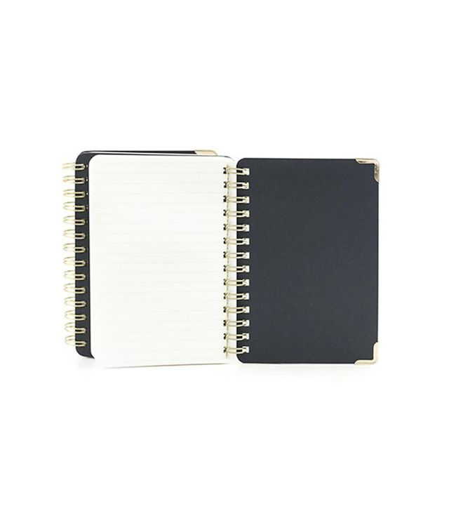 Kikkerland Double Sided Notebook Ruled + Plain