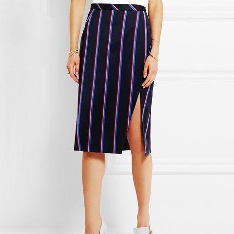 Striped Wool Skirt