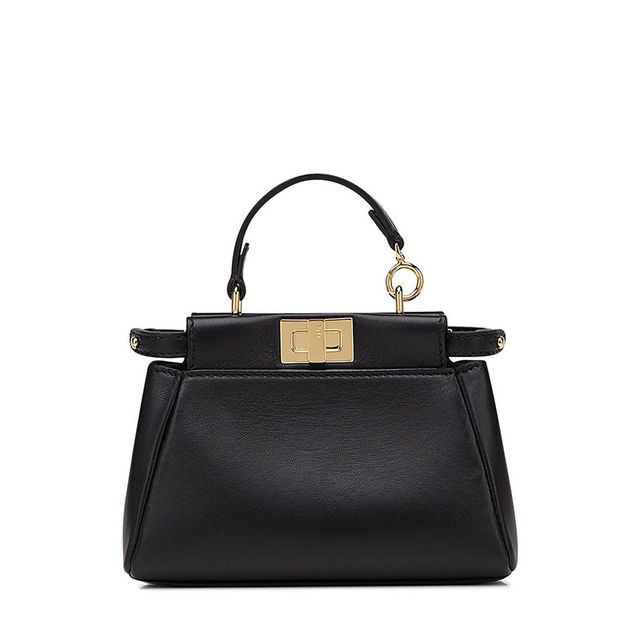 Fendi Mirco Peekaboo Leather Bag