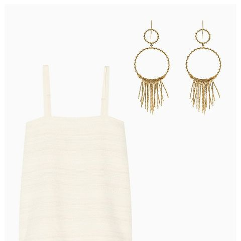 Maria Gold-Plated Earrings