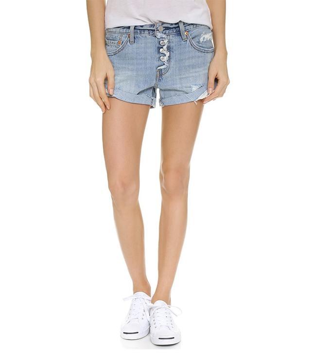 Levi's Custom Roll Hem Shorts