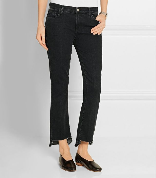 J Brand Selena Cropped Mid-Rise Bootcut