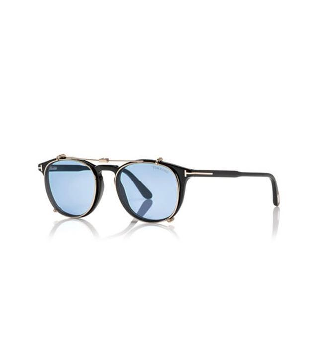 Tom Ford Shiny Rose Golden Round Sunglasses