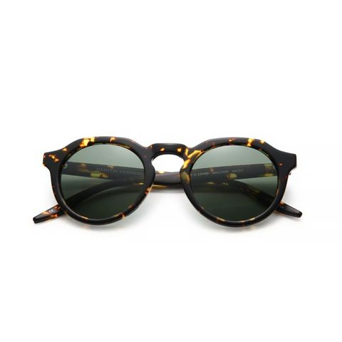 Round Speckled Sunglasses