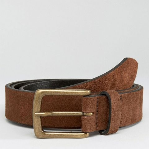 Suede Belt in Brown