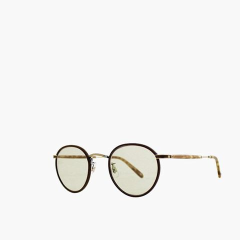 Garrett Leight Mocha Leather-Demi Tortoise with Brown