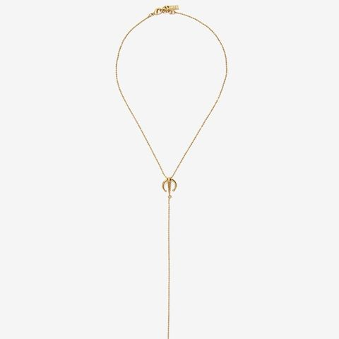 On the Cusp Lariat Necklace