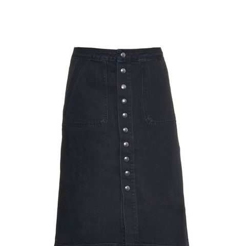 Sonning Button-Through Denim Skirt