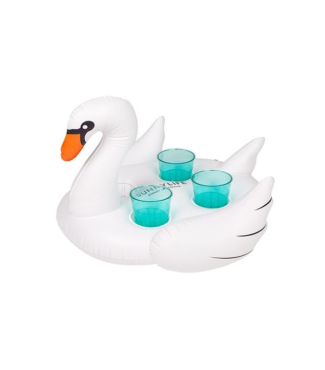 SunnyLife Inflatable Drink Holder Swan