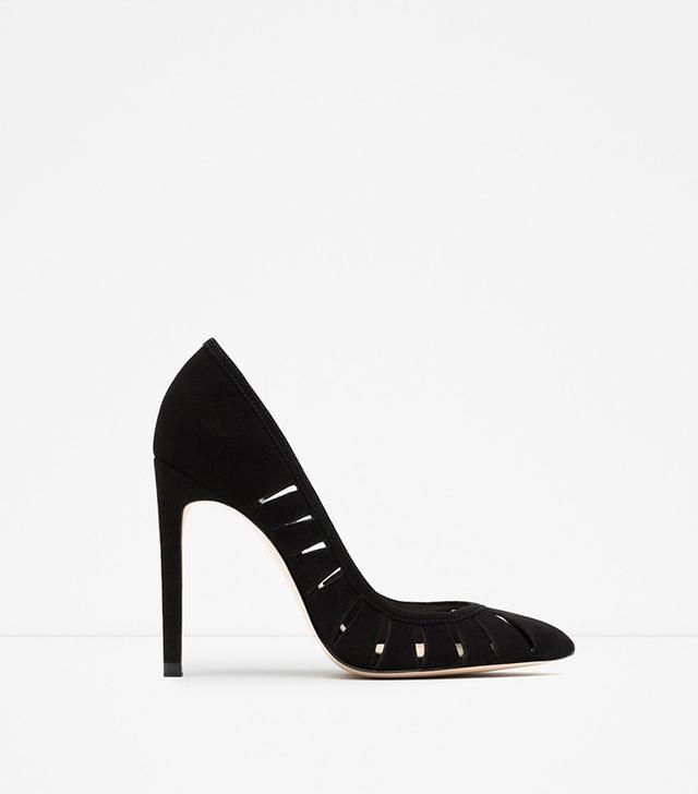 Zara High Heel Leather Shoes