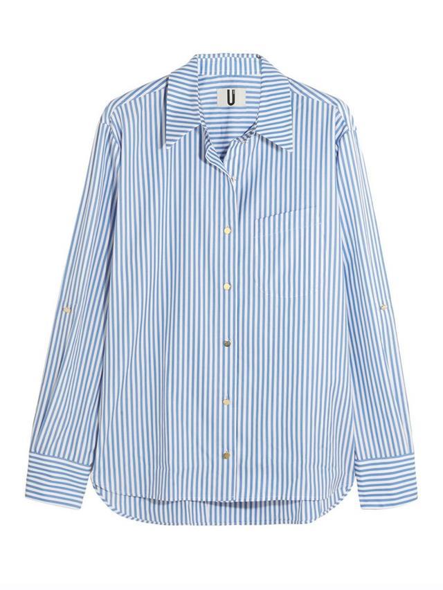 Topshop Unique Dorney Striped Cotton-Poplin Shirt