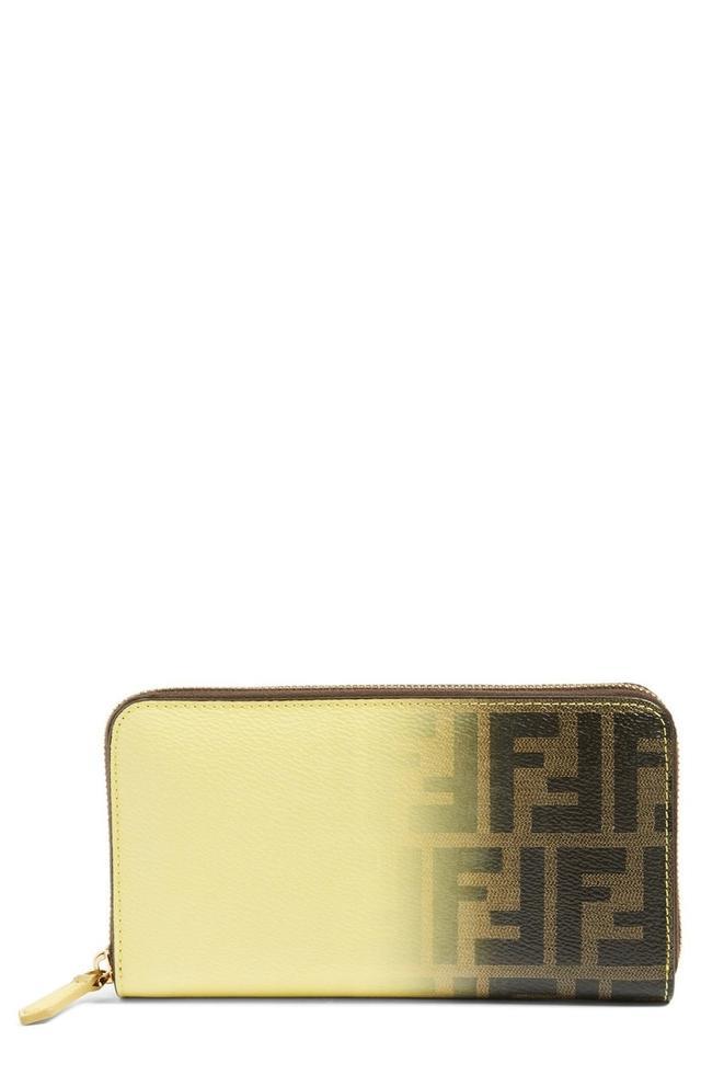 Fendi Ombre Zucca Zip Wallet