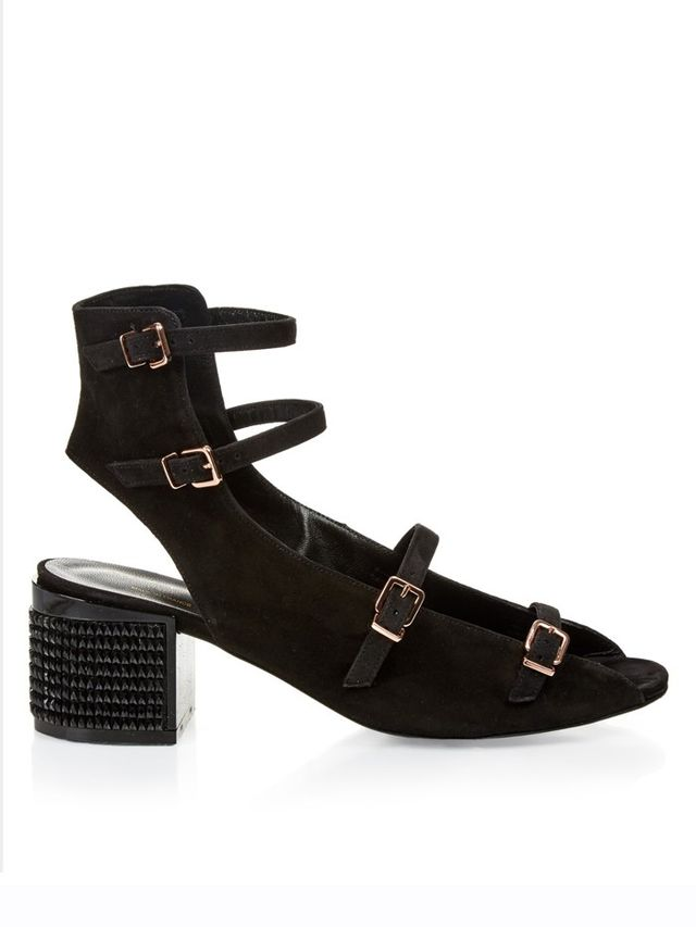 Robert Clergerie Elona Suede Block-Heel Sandals