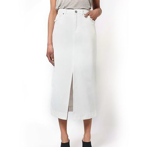 Demin Midi Skirt