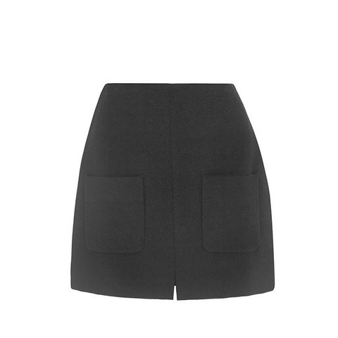 Stretch Crepe Mini Skirt