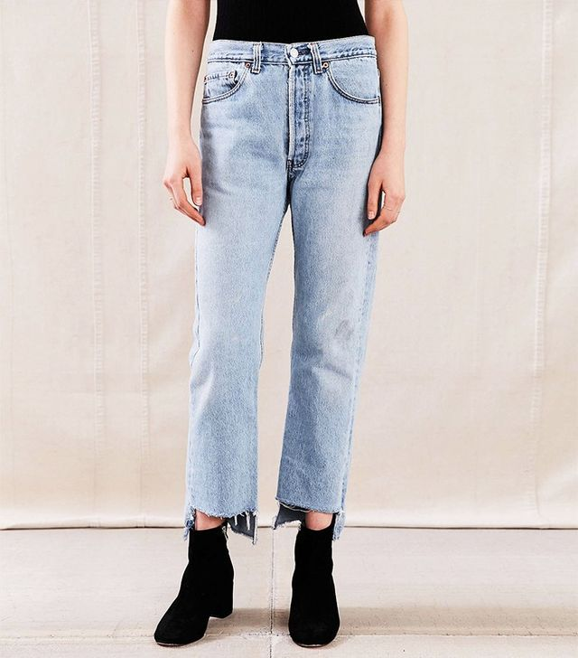 Urban Renewal Remade Uneven Hem Jeans