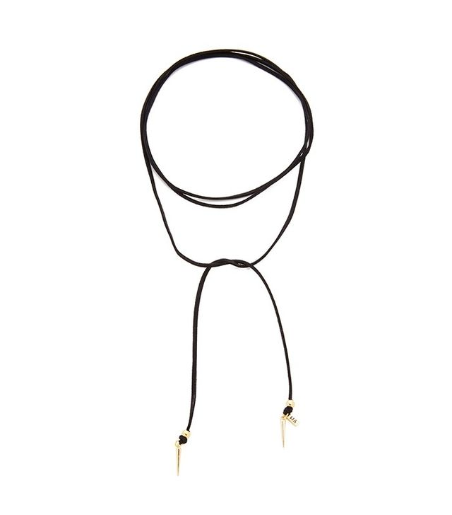 Vanessa Mooney Suede Wrap Necklace