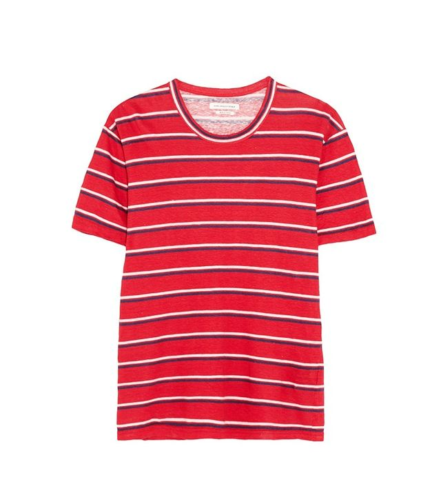 Etoile Isabel Marant Ken Striped Linen T-Shirt