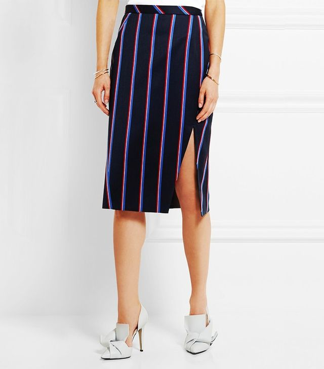 Altuzarra Striped Wool Skirt