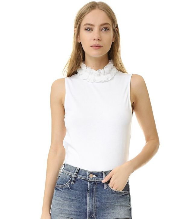 See by Chloe Ruffle Neck Tank