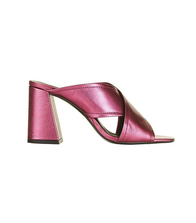 Topshop Riot Flared Mules