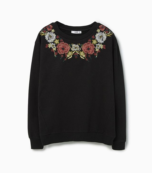 Mango Embroidered Cotton Sweatshirt
