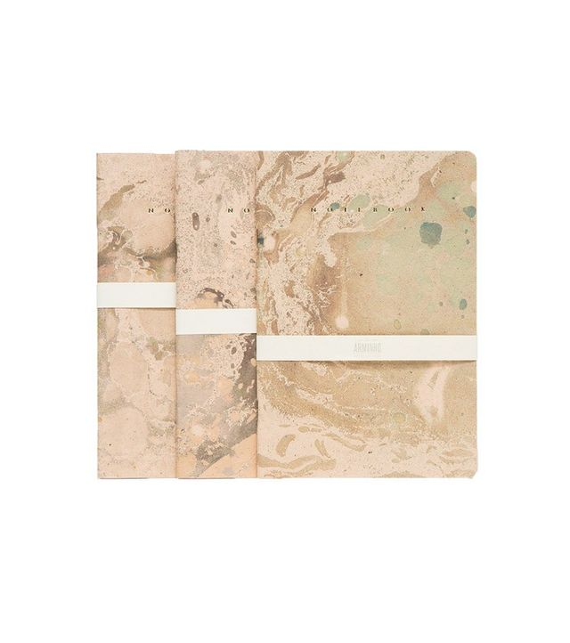 Arminho Gold Marbled Trio Notebooks