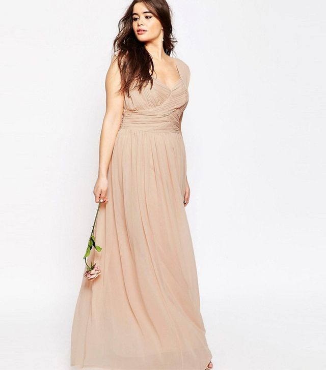 ASOS Curve Wedding Maxi Dress With Ruched Panel