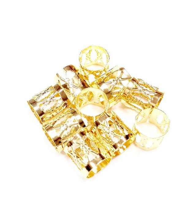 Gold Metal Hair Cuffs