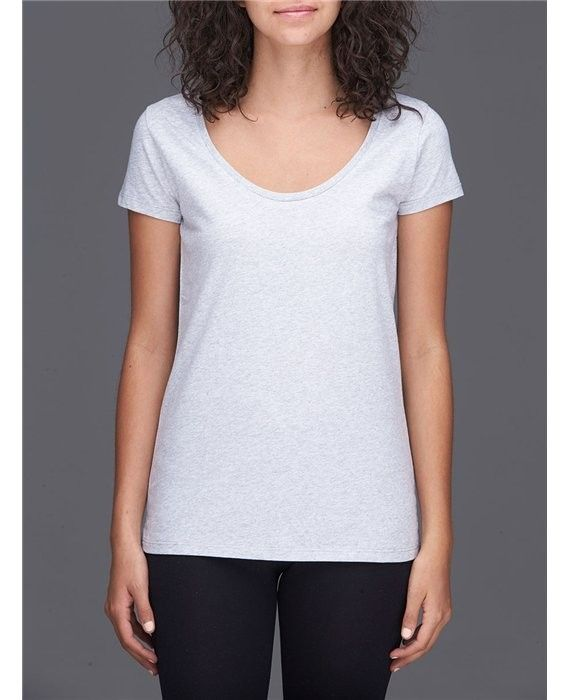 Majestic Filatures Deluxe Cotton Shot Sleeve Scoop Tee