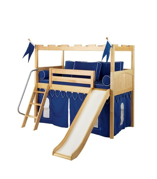 Amazing Maxtrix Kids Knights Castle with Slide Curtain u Angle Ladder