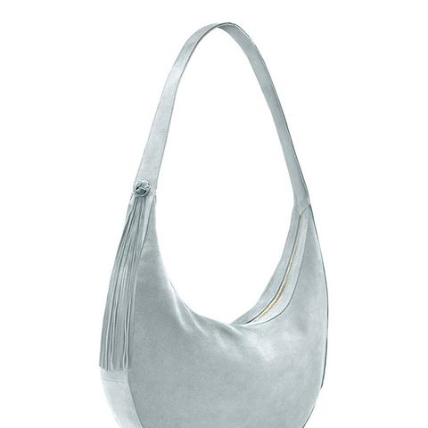 Large Zoe Suede Hobo Bag