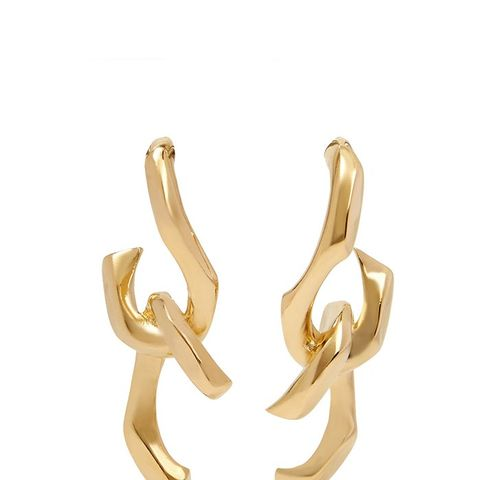 Dechainee Gold-Plated Earrings