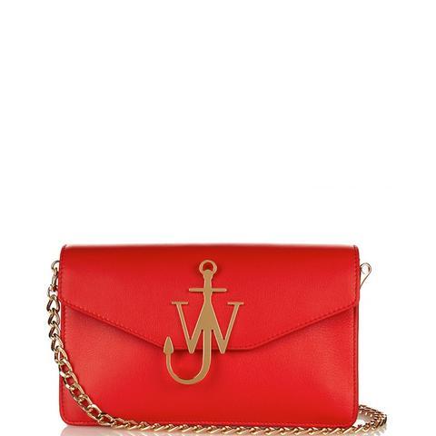 Monogram Leather Shoulder Bag
