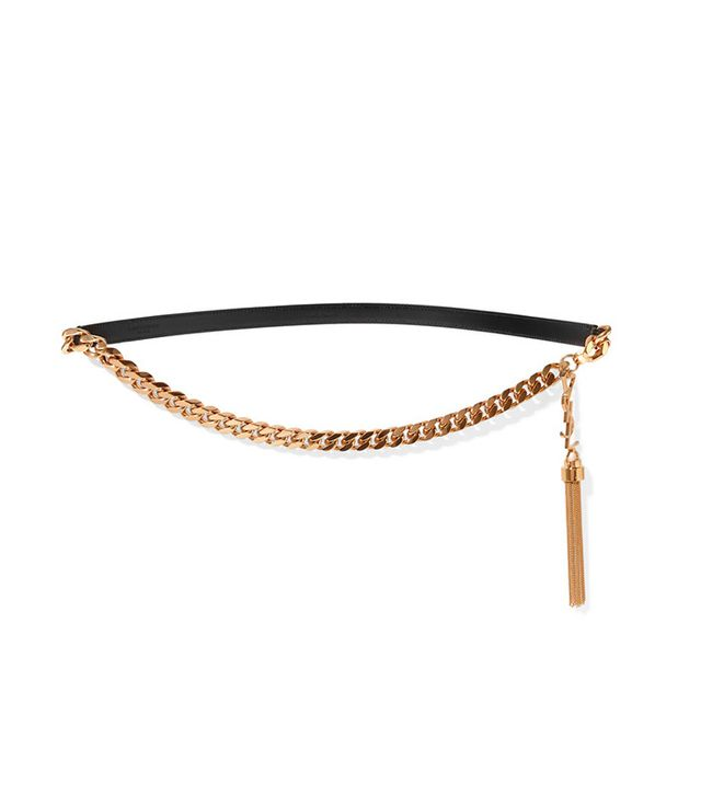 saint laurent gold belt