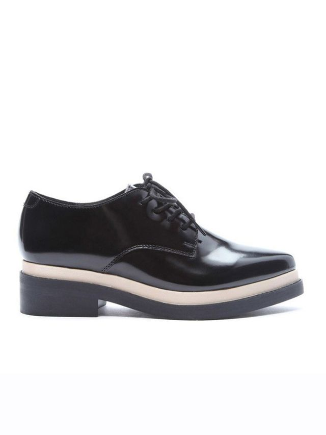 Forever21 Faux Leather Platform Oxfords