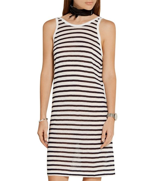 T by Alexander Wang Striped Jersey Dress