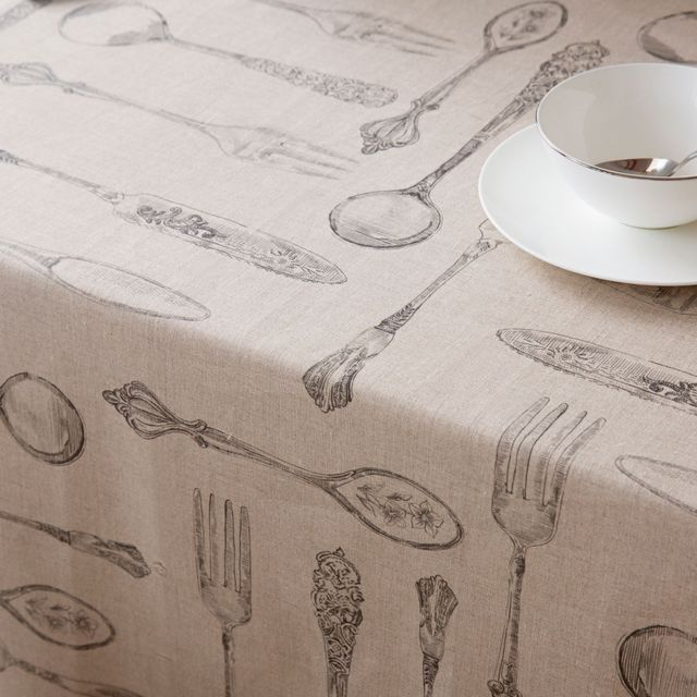 Zara Home Digital Cutlery Print Tablecloth