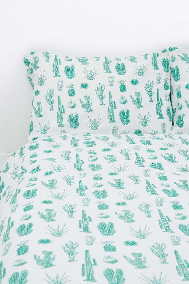 Urban Outfitters Cactus Print Duvet Set